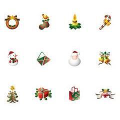 可愛すぎる!クリスマスに使えるアイコン ベクター素材