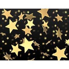 ゴールドスターでクリスマスを彩ろう! 画像素材