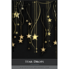 奥ゆかしい星の雫 フォトショップ ブラシ素材