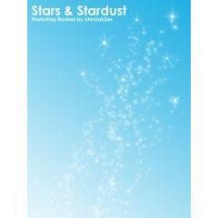 星と星クズたちのイルミネーション フォトショップブラシ素材