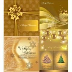 美しいゴールド色のクリスマス背景 ベクター素材