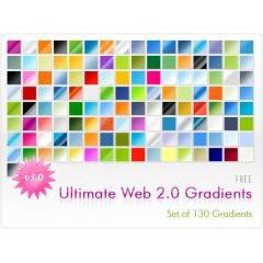 Web2.0風デザインをするならもっておきたいPhotoshop用グラデーションファイル