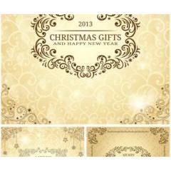 クリスマスカードのフローラルな装飾 ベクター素材