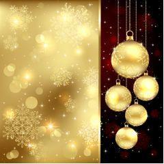 美しいゴルードースノーchristmas ベクター素材