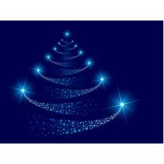 輝く星と雪の道しるべのようなクリスマス ベクター素材