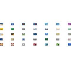 オンラインショップのカート決済等に使える小さいクレジットカードアイコンセット