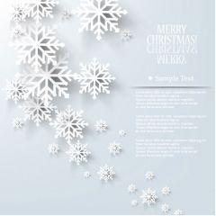 冬に似合う雪の結晶デザイン ベクター素材
