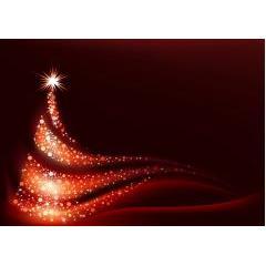 風の中のクリスマスツリー ベクター素材