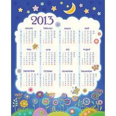 可愛いお絵描きカレンダー2013 ベクター素材