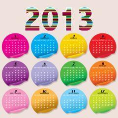 2013年のPOPなカレンダー ベクター素材