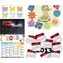 巳年カレンダー ベクター素材