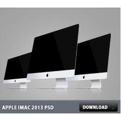 Apple iMac 2013 PSD素材