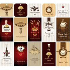 レストランとカフェのグラフィックカード ベクター素材