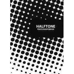 ハーフトーンの背景をデザイン出来るフォトショップ ブラシ素材