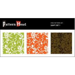 葉と幹のフローラルパターン ベクター素材