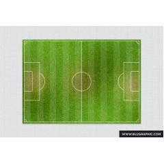 かなりリアルなサッカーフィールド PSD素材