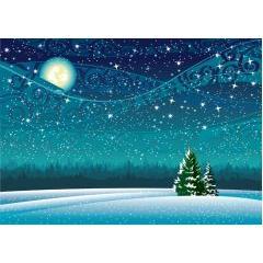 冬の素敵な風景画 ベクター素材