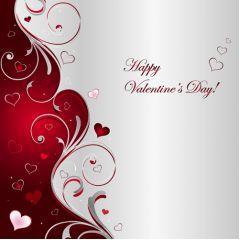 高級感もあり美しいバレンタインデー ベクター素材