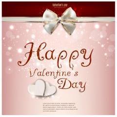輝きと色合いが素敵なバレンタインカード ベクター素材