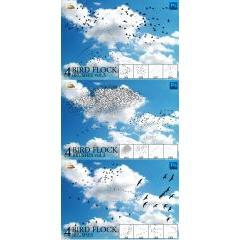 青空を羽ばたく渡り鳥のブラシ フォトショップ素材