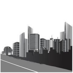 クールなデザインを描ける都会のビルデザイン ベクター素材