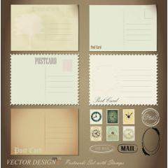 レトロ感のある手紙のデザイン素材