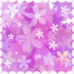 優雅に舞い散る桜の花 フォトショップブラシ素材