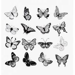 女性デザインに最適!!美しい蝶々のベクター素材