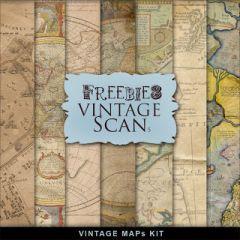 古代地図が描かれたビンテージマップ テクスチャ素材