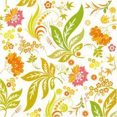 夏の香りがたまらない!カラフルなフラワーデザイン ベクター素材