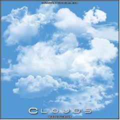 フォトショップで空を描けるブラシ素材集 cloud photoshop