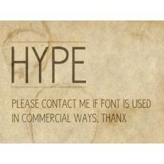 無料にしてはお洒落すぎるフォント素材 HYPE