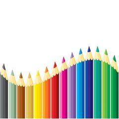色がキレイ!カラフルなペンシル ベクター素材