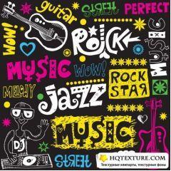 音楽フライヤーに使えるミュージックグラフィック ベクター素材
