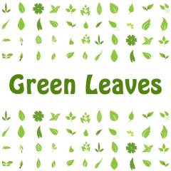 ロゴやワンポイントに使える!葉っぱのアイコン素材