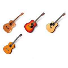 忠実に再現されたアコースティックギター アイコン素材
