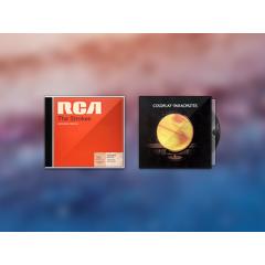 ビンテージ感がお洒落なCDとレコードのジャケットアイコン素材 PSD