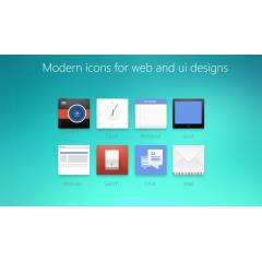 次世代フラットデザイン用のアイコン素材 Photoshop PSD