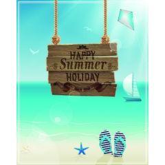 ハッピーな夏を演出するデザイン ベクター素材
