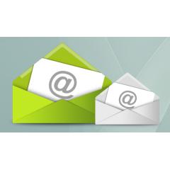 スタイリッシュなE-mailアイコン素材