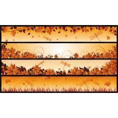 秋の気配を感じさせるバナーデザイン ベクター素材