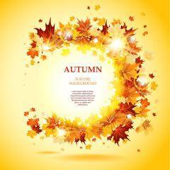 秋を表現出来るクールすぎるデザイン ベクター素材