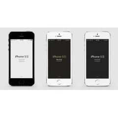 早速登場! i phone5Sのモックアップデザイン PSD、ベクター素材