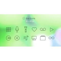 iOS7のフラットアイコン素材