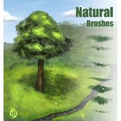 自然な木や草原が描けるフォトショップブラシ素材