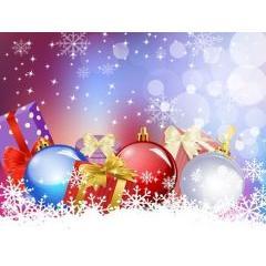 キラキラ輝くクリスマスデザインベクター素材