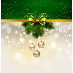 輝き溢れるクリスマスデコレーション ベクター素材