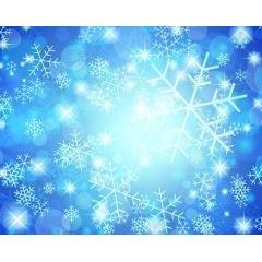 雪の結晶が舞い降りる素敵なデザイン ベクター素材