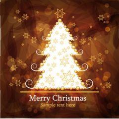 ゴージャスなクリスマスツリーの背景 ベクター素材