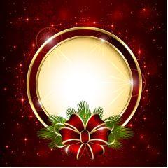 光沢ある赤い輝き!クリスマスの背景 ベクター素材